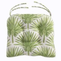 Print Indoor/Outdoor Tufted Cushion in Green Palm