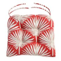 Print Indoor/Outdoor Tufted Cushion in Spice Palm