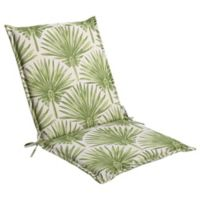 Print Indoor/Outdoor Folding Sling Chair Cushion in Green Palm