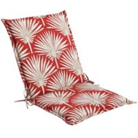 Print Indoor/Outdoor Folding Sling Chair Cushion in Red Palm