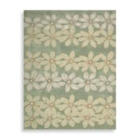 Nourison Contours Sage Daisy 7-Foot 3-Inch x 9-Foot 3-Inch Chain Rug