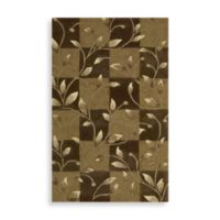 Nourison Contours 3-Foot 6-Inch x 5-Foot 6-Inch Vine Rug in Brown
