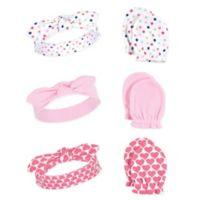 Little Treasure 6-Piece Confetti Headband and Scratch Mitten Set