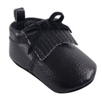 Hudson Baby® Size 0-6M Moccasin Booties in Black