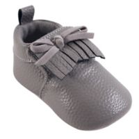Hudson Baby® Size 0-6M Moccasin Booties in Grey