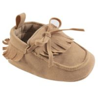 Hudson Baby® Size 12-18M Fringe Moccasin Booties in Beige