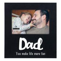 Malden® Dad Fun Wood 4-Inch x 6-Inch Photo Frame in Black