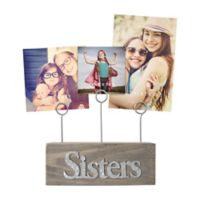 SixTrees LTD 3-Photo Sisters Photo Clip in Grey