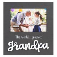Malden® Greatest Grandpa Wood 4-Inch x 6-Inch Photo Frame in Grey