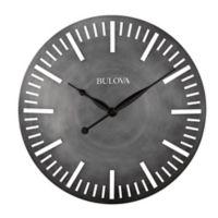 Bulova Arc 24-Inch Wall Clock in Metallic Silver