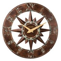 Bulova Nor'Easter Three Dimentional Wall Clock in Aged Bronze