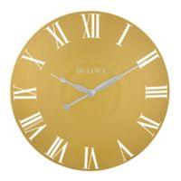 Bulova Lexington 24-Inch Wall Clock in Gold