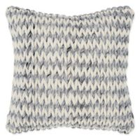 Rizzy Home Chunky Knit Square Throw Pillow in Grey