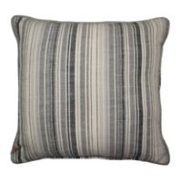 Woven Striped Square Throw Pillow in Charcoal