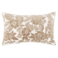 Anya Floral Patchwork Oblong Indoor/Outdoor Throw Pillow in Taupe
