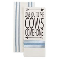 Bee & Willow™ Home 2-Pack Cows Come Home Kitchen Towels in Blue/White