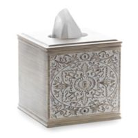 Sumatra Boutique Tissue Box Cover in Light Wood