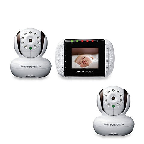 Motorola® MBP33-2 Wireless Color Video Baby Monitor with 2.8-Inch Screen and 2 Cameras