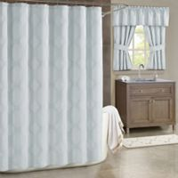 Soho Ombre 54-Inch x 78-Inch Shower Curtain in Spa Blue