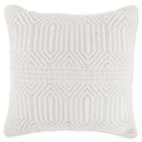 Rustic Hex Square Throw Pillow in Cream/Sage
