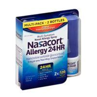 Nasacort® 2-Count Allergy 24 Hour Non-Drowsy Nasal Spray 120 Sprays
