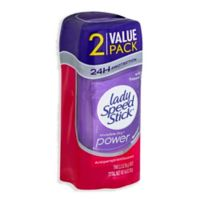 Lady Speed Stick 2-Count 4.6 oz. Invisible Dry Power Antiperspirant and Deodorant in Wild Freesia