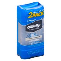 Gillette® 2-Count 8 oz. Clear Gel Antiperspirant and Deodorant in Undefeated