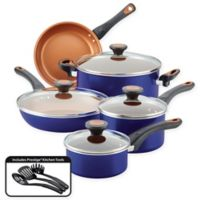 Farberware® Glide™ Nonstick Copper Ceramic 12-Piece Cookware Set in Blue