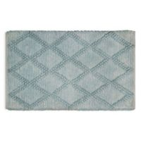 "Chunky Diamond 24"" x 40"" Bath Rug in Blue"