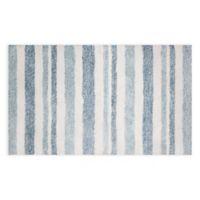 """Grayson Stripe 24"""" x 40"""" Bath Rug in Blue"""