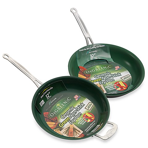 Orgreenic Kitchenware Ceramic Fry Pans Bed Bath Amp Beyond