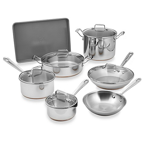 Emerilware Stainless Steel 12 Piece Cookware Set Bed