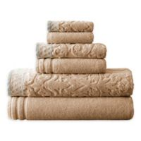 6-Piece Damask IV Towel Set in Taupe