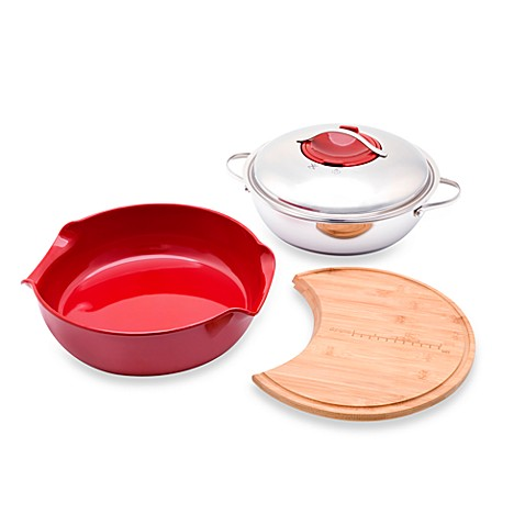 Twiztt™ by Joan Lunden 10-Inch Cut, Cook and Serve 4-Piece Set in Red