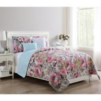VCNY Home Lucia Reversible Twin Quilt Set in Pink