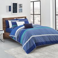 Lacoste Chistera Reversible King Duvet Cover Set in Blue
