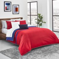 Lacoste Pasaka Reversible King Duvet Cover Set in Red