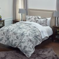 Rizzy Home Floral Queen Comforter Set in Brown