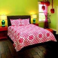 Rizzy Home Molly King Comforter Set in Coral