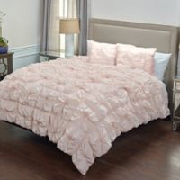 Rizzy Home Solid Queen Comforter Set in Pink