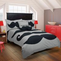 Rizzy Home Le Moustache 2-Piece Twin Comforter Set in Grey