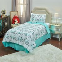 Rizzy Home Bicycle 2-Piece Twin Comforter Set in Blue