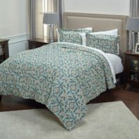 Rizzy Home Floral Queen Comforter Set in Light Blue