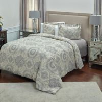 Rizzy Home Elma Medallion Queen Duvet Cover Set in Grey