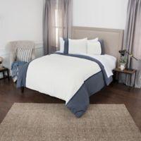 Rizzy Home Wilmington Mill Stripe Queen Duvet Cover Set in Indigo
