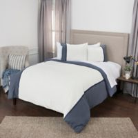 Rizzy Home Wilmington Mill Stripe King Duvet Cover Set in Indigo