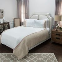 Rizzy Home Wilmington Mill Stripe King Duvet Cover Set in White