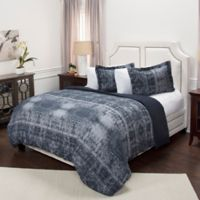 Rizzy Home Geometric King Duvet Cover Set in Blue