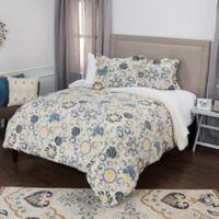Rizzy Home Deja Medallion Queen Duvet Cover Set in Blue