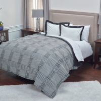 Rizzy Home Houndstooth Twin Comforter Set in Black